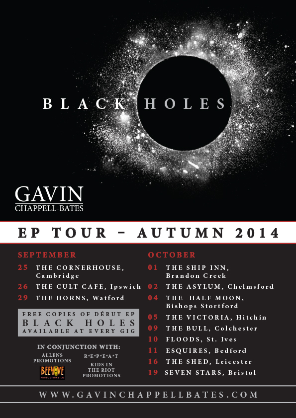 Black Holes EP Tour Autumn 2014