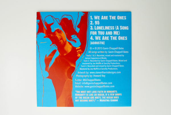 BWe Are The Ones ltd edition CD back cover