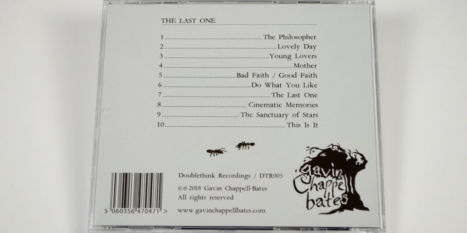The Last One CD – back